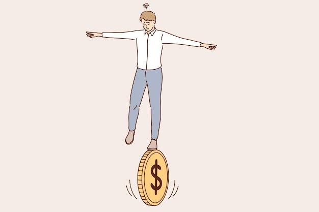 Biznesowa równowaga ryzyka finansowego koncepcji ekonomii
