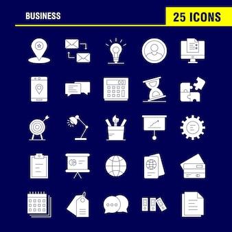 Biznesowa stała ikona glifów dla zestawu internetowego, drukowania i mobilnego ux / ui.
