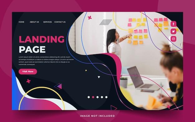 Biznesowa strona docelowa pracy zespołowej z kobietami biznesu