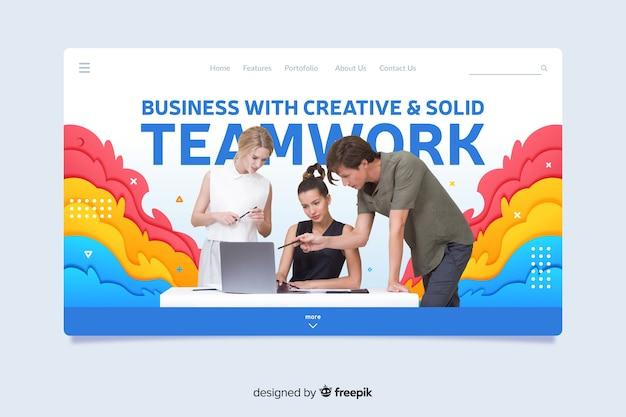 Biznesowa strona docelowa pracy zespołowej