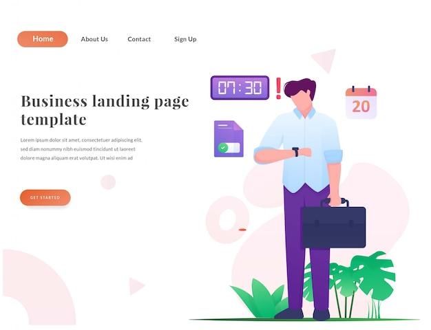 Biznesowa strona docelowa w sieci web biznesmen