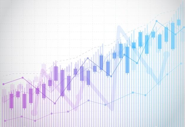 Biznesowa świeczka kija wykresu mapa rynek papierów wartościowych inwestycja