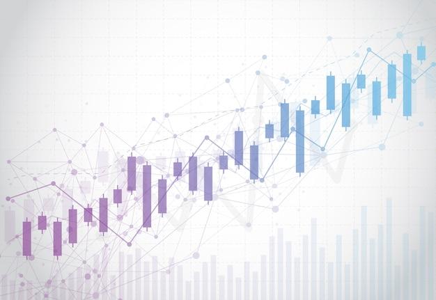 Biznesowa świeczka kija wykresu mapa rynek papierów wartościowych