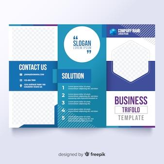 Biznesowa trifold broszura