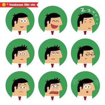 Biznesowe emocje twarzy