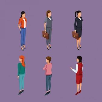 Biznesowe kobiety 3d