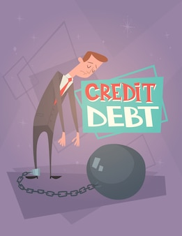 Biznesowego mężczyzna łańcuch opierać nogi kredytowego długu finanse kryzysu pojęcie