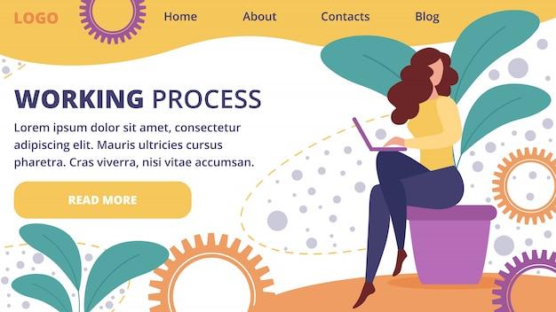 Biznesowej kobiety pracy proces z laptopu biurem