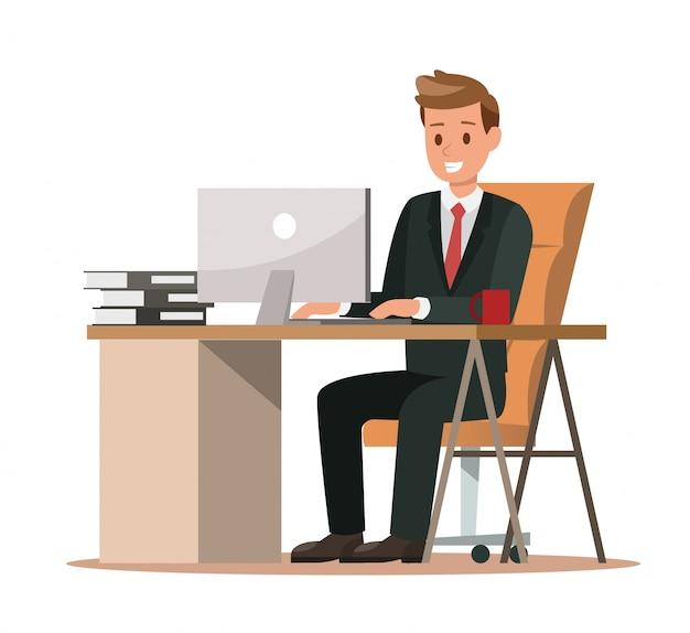Biznesowi charaktery pracuje w biurze