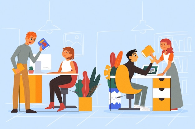 Biznesowi koledzy ilustracyjni