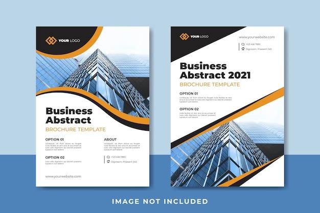 Biznesowy abstrakcyjny szablon broszury