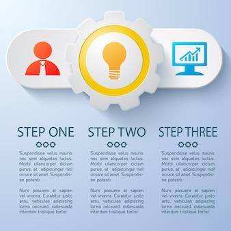 Biznesowy baner internetowy z kolorowymi elementami i płaskim polem tekstowym