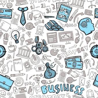 Biznesowy bezszwowy wzór