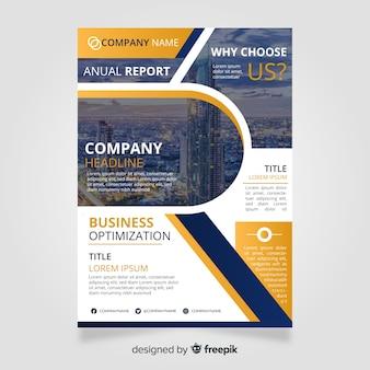 Biznesowy broszurka szablon z fotografią