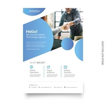Biznesowy broszurka szablon z nowożytnym projektem