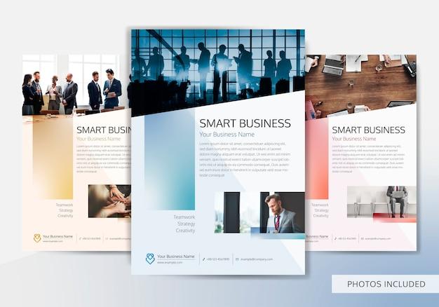 Biznesowy broszurka szablon