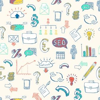 Biznesowy doodle wzór