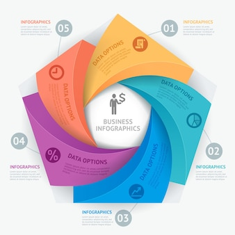 Biznesowy infografiki szablon projektu