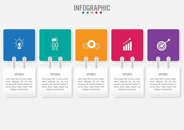 Biznesowy infographic etykietka szablon
