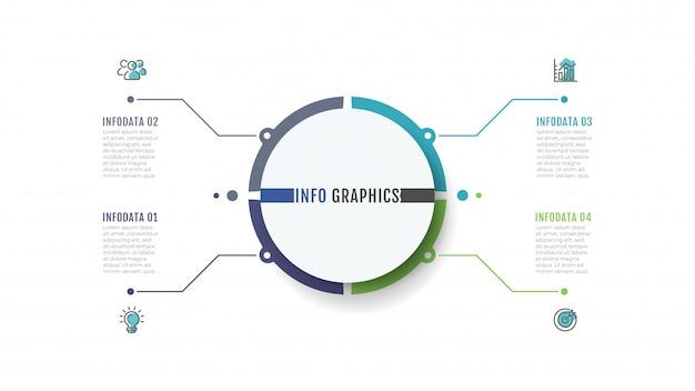Biznesowy infographic projekt etykietki z marketingowymi ikonami