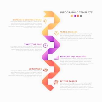 Biznesowy infographic projekta szablon