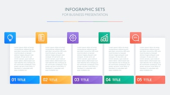 Biznesowy infographic szablon dla prezentaci