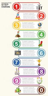 Biznesowy infographic szablon. wizualizacja danych.