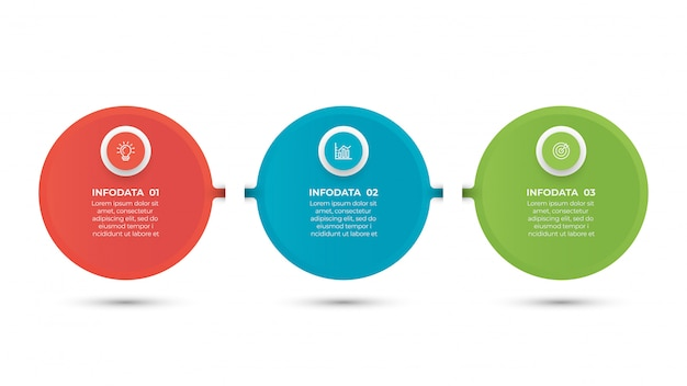 Biznesowy infographic szablon z 3 krokami