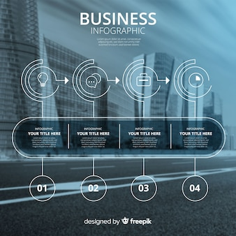Biznesowy infographic szablon z fotografią