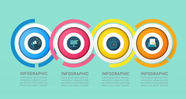 Biznesowy infographic szablon z opcjami