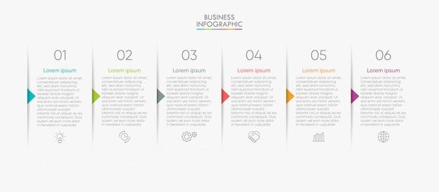 Biznesowy infographic szablon