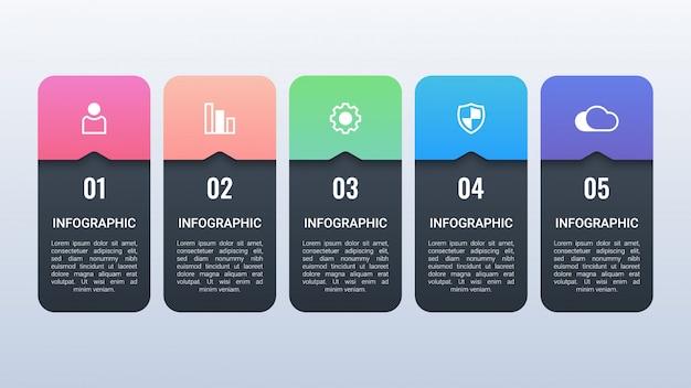 Biznesowy infographic z opcjami