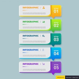 Biznesowy infographics projekta szablon