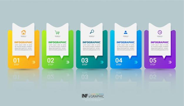 Biznesowy infographics projekta szablon.