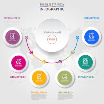 Biznesowy infographics projekta szablonu ilustracja. wektor eps10.