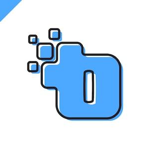 Biznesowy korporacyjny kwadratowy listowy logo projekt
