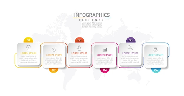 Biznesowy kwadratowy kształt infografika elementy szablonu projektu