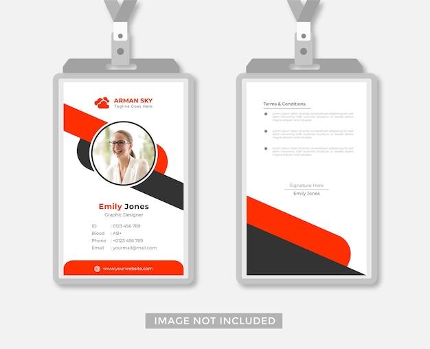 Biznesowy lub biurowy projekt karty identyfikacyjnej streszczenie styl wektor