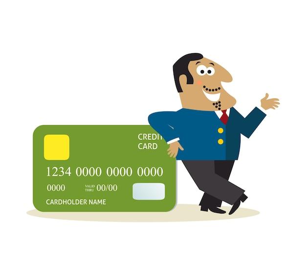 Biznesowy mężczyzna z kredytową kartą
