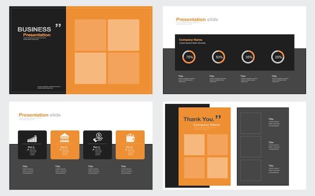 Biznesowy minimalny szablon prezentacji slajdów szablon tła prezentacji biznesowej