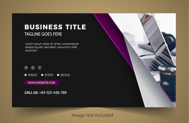 Biznesowy nowy projekt szablonu banera