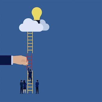 Biznesowy płaski wektorowy pojęcie biznesmen