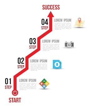 Biznesowy pojęcie infographic szablon z ikonami