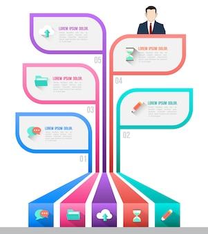 Biznesowy pojęcie infographic szablon