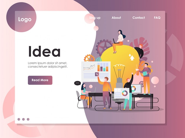 Biznesowy pomysł wektorowy strona internetowa strony docelowej szablon