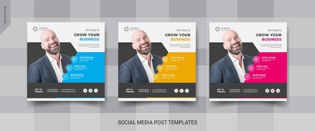 Biznesowy post w mediach społecznościowych na instagramie