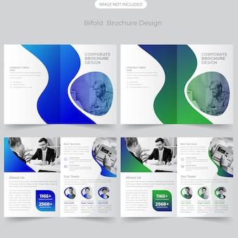 Biznesowy projekt broszury bifold