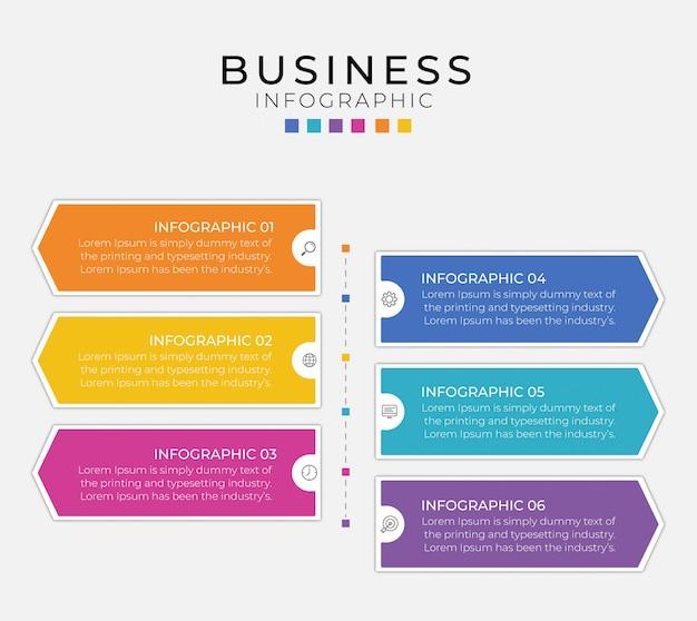 Biznesowy projekt infografiki może być wykorzystany do układu przepływu pracy, schematu, raportu rocznego.