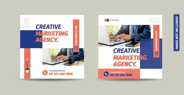 Biznesowy projekt postu w mediach społecznościowych lub projekt banera witryny internetowej lub projekt reklamy internetowej
