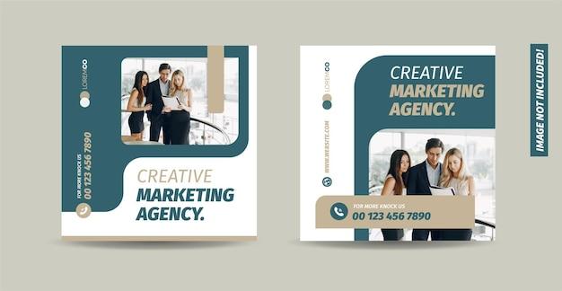 Biznesowy projekt postu w mediach społecznościowych lub projekt strony internetowej produktu baner lub projekt reklamy internetowej